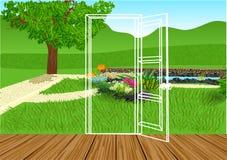 Otwarcia drzwi royalty ilustracja
