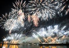 Otwarcie festiwalu okrąg światło 2015 salut fajerwerki Zdjęcie Stock