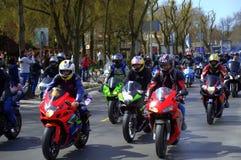 Otwarcie motocyklu sezon 2016 Varna, Bułgaria Obrazy Royalty Free