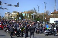 Otwarcie motocyklu sezon 2016 Varna, Bułgaria Fotografia Royalty Free