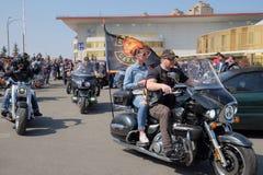 Otwarcie motocyklu sezon w Kyiv Zdjęcie Stock