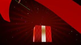 Otwarcie prezenta pudełko, 3d animacja ilustracja wektor