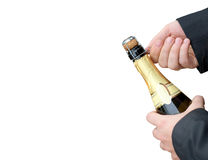Otwarcie szampan obraz stock