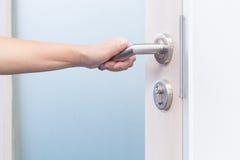 otwarta drzwiowa ręka Zdjęcia Stock