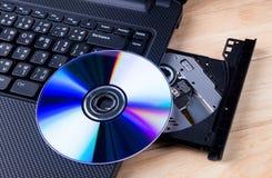 Otwarta DVD przejażdżka Obrazy Stock