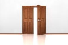 otwarta dwoista drzwi połówka Zdjęcia Royalty Free
