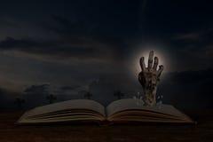 Otwarta Halloween książka Fotografia Royalty Free