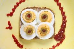 Otwarta kanapka Obraz Stock