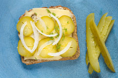 Otwarta kanapka Obrazy Royalty Free