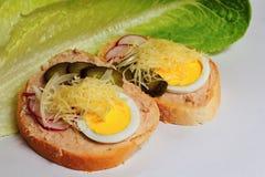 Otwarta kanapka Zdjęcie Royalty Free
