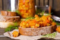 Otwarta kanapka z warzywami Zdjęcie Stock