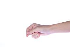 Otwarta kobiety ręka na białym tle Obraz Stock