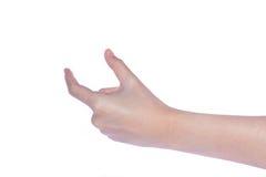 Otwarta kobiety ręka na białym tle Obrazy Royalty Free
