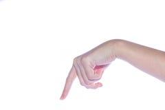 Otwarta kobiety ręka na białym tle Zdjęcie Royalty Free