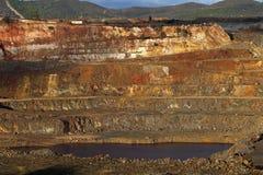 otwarta kopalni miedzi jama Zdjęcia Royalty Free