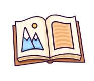 otwarta książka ilustracja wektor