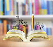 otwarta książkowa magia royalty ilustracja