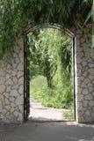 otwarta ogrodowa brama Zdjęcia Royalty Free