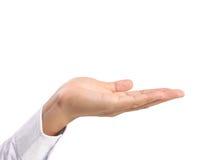 Otwarta palmowa ręka Obrazy Stock