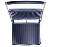 Otwarta panini prasa pokazuje lanych żelazo talerze Fotografia Royalty Free