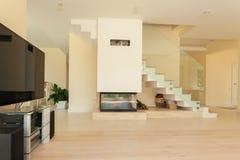 Otwarta przestrzeń dom od inside Obraz Stock