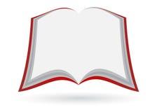 otwarta pusta książka Obrazy Stock