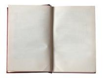 otwarta pusta książka Fotografia Stock