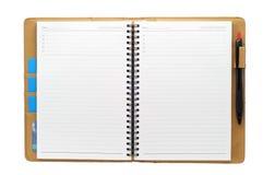 otwarta pusta książkowa notatka zdjęcie stock