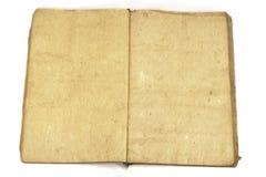 Otwarta pusta tradycyjna rocznik książka zdjęcie stock