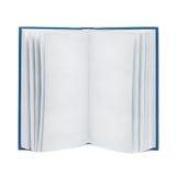 Otwarta puste miejsce książka na bielu, odizolowywającym Fotografia Royalty Free