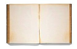 Otwarta rocznik książka Zdjęcia Royalty Free