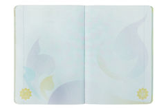 Otwarta Tajlandia pusta Paszportowa strona na bielu Fotografia Stock
