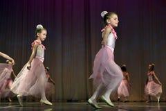 Otwarta tana Festival-2016 Children tana grupa wykonuje balet Fotografia Royalty Free