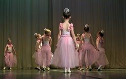 Otwarta tana Festival-2016 Children tana grupa wykonuje balet Zdjęcia Stock