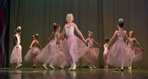 Otwarta tana Festival-2016 Children tana grupa wykonuje balet Obrazy Royalty Free