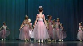 Otwarta tana Festival-2016 Children tana grupa wykonuje balet Fotografia Stock