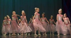 Otwarta tana Festival-2016 Children tana grupa wykonuje balet Zdjęcia Royalty Free