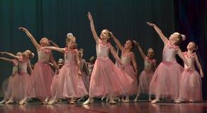 Otwarta tana Festival-2016 Children tana grupa wykonuje balet Zdjęcie Royalty Free