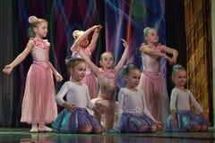 Otwarta tana Festival-2016 Children tana grupa wykonuje balet Obrazy Stock