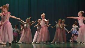 Otwarta tana Festival-2016 Children tana grupa wykonuje balet Zdjęcie Stock
