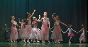 Otwarta tana Festival-2016 Children tana grupa wykonuje balet Obraz Stock