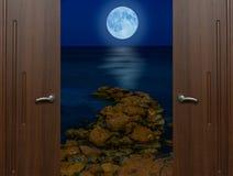 Otwarte drzwi ćwiartka zdjęcia stock
