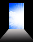 Otwarte drzwi nowy świat ilustracja wektor
