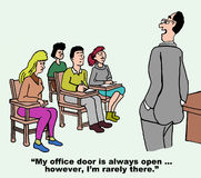 Otwarte Drzwi polisa Zdjęcia Stock