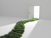 Otwarte drzwi w światło Zdjęcie Stock