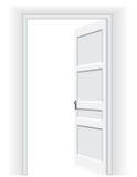 Otwarte drzwi - Wektorowa ilustracja Ilustracji