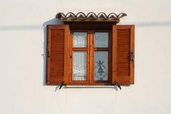 otwarte okno drewniany Zdjęcie Stock