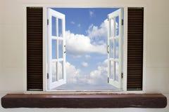 Otwarte okno w niebie Obraz Royalty Free
