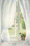 Otwartego kraju okno Zdjęcie Royalty Free
