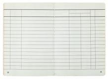 Otwartego standardu papieru banka książeczka czekowa Fotografia Royalty Free